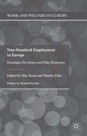 "Cover: 2011: ""Non-Standard Employment in Europe"" 